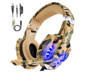 auriculares gaming camuflaje