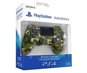 mando sony PS4 dualshock camuflaje verde