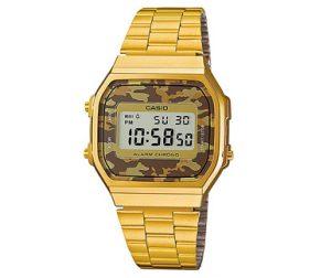 reloj casio dorado militar