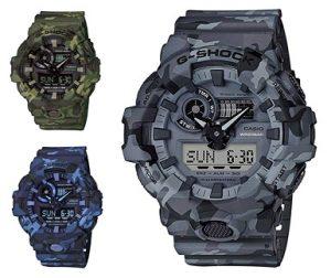reloj casio g-shock camuflaje gris