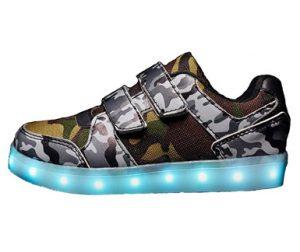 zapatillas camuflaje niño velcro y luces