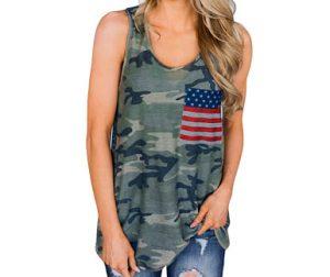 camiseta camuflaje tirantes mujer