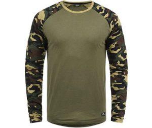 camiseta militar hombre manga larga