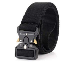 cinturón militar negro táctico nylon