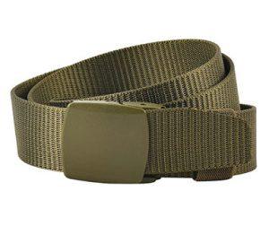 cinturón verde militar hebilla sin metal