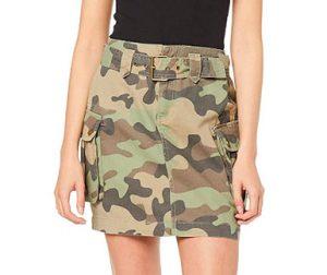 falda camo bolsillos laterales militar