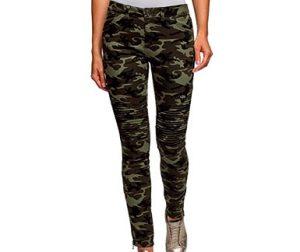 pantalones camo mujer skinny