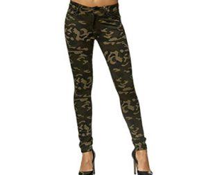 pantalones camuflaje elásticos mujer