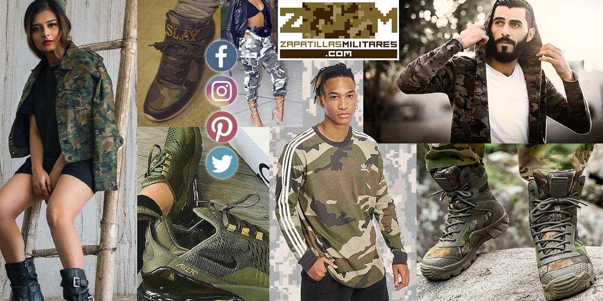 tienda zapatillas militares y ropa camuflaje