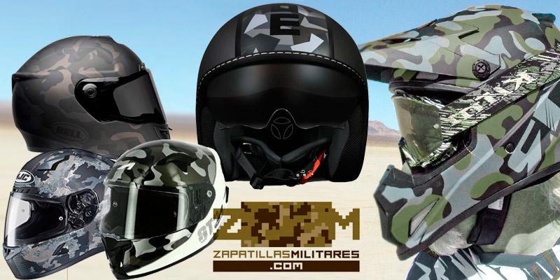casco moto militar camuflaje